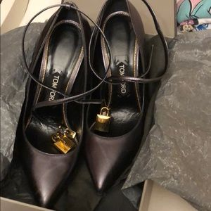 Tom Ford heels with lock strap